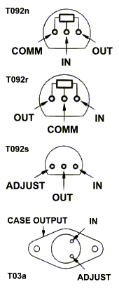Voltage Regulator Pin-outs