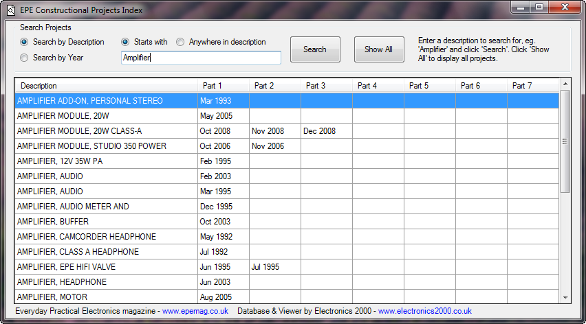 Electronics 2000 | Downloads - FREE software including